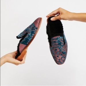 Free People NWOB Butterfly Effect Mules Pink Blue